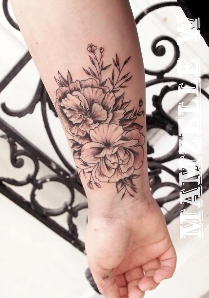 Tatouage Fleur Sandytatoo